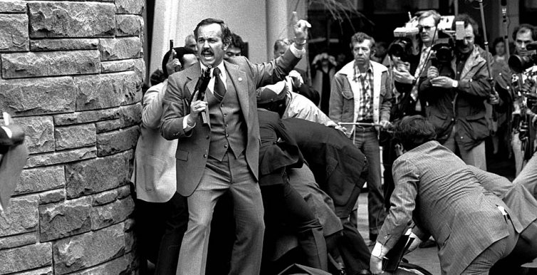 The attempted assassination of President Ronald Reagan on March 30, 1981